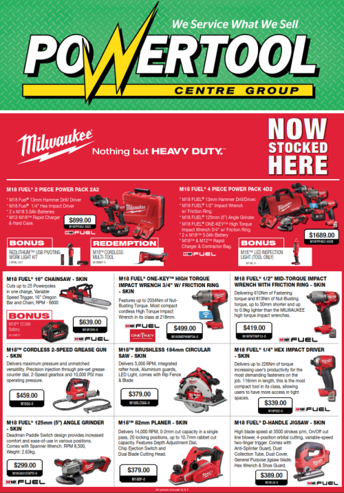 Milwaukee Catalogue