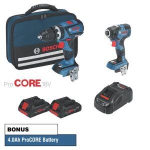 Bosch GSB 18-60 4.0Ah 18v li 2 piece kit